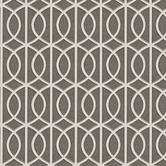 Taupe Modern Trellis Linen Fabric - Rounded trellis in taupe & white on soft lightweight line. Your gateway to a chic modern look. Modern Upholstery Fabric, Drapery Fabric, Linen Fabric, Curtains, Cushion Fabric, Modern Fabric, Cotton Fabric, North Carolina, Trendy Tree