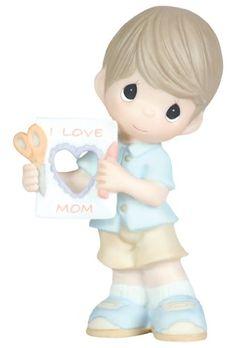 "Precious Moments ""I Love Mom"" Figurine, Boy Precious Moments"