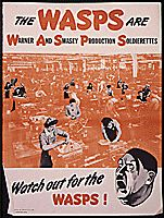 The WASPS are Warner and Swasey Production Soldierettes. Watch out for the WASPS!, ca. 1942 - ca. 1943
