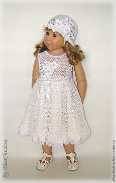 Купить Комплект для крещения - белый, платье летнее, платье крючком, платье для девочки, Платье нарядное