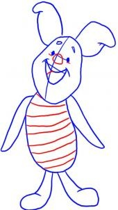 How to Draw Piglet from Winnie the Pooh - Disney