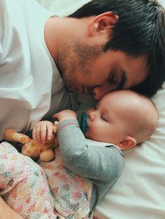 Daddy-daughter cuddles