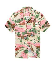Made in Hawaii Men's Hawaiian Shirt Aloha Shirt PlumeriaPalm Mini Surfboards Pink, Size: Medium, Purple Hawaiian Pattern, Hawaiian Print, Tropical Pattern, Vintage Hawaiian Shirts, Mens Hawaiian Shirts, Hawaian Party, Cruise Party, Tropical Fashion, Green Fashion