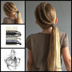 Three dutch braids into a ponytail with a beautiful hairtie from the webshop www.goudhaartje.nl (worldwide shipping).   Hairstyle inspired by:  @prettylittlebraids   #hair #hairstyle #braid #braids #plait #trenza #peinando #beautifulhair #longhair #blonde #gorgeoushair #stunninghair #hairaccessories #hairinspo #braidideas #hairstylesforgirls #coolhair #hairfeed #hairpost #ponytail #dutchbraid #goudhaartje