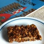 Make 16 bars in just 16 minutes: sweet! They're perfect for budding athletes, full of whole grains and fruit with no cholesterol or added fat. The bars hold together well and aren't sticky, so you can bring a plate of them into the TV room without hesitation. Of course, they pack well in a