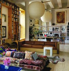 Eclectic bohemian living space