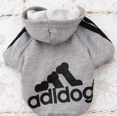 Zvířecí obleček Adidog šedivý - zvířecí oblečky + POŠTOVNÉ ZDARMA