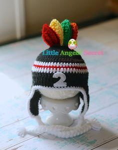 Chicago Blackhawks Crochet inspired hat hockey inspired hat photo prop. baby crochet hat hair accessories Crochet hats.