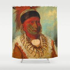 The White Cloud, Head Chief of the Iowas Canvas Print / Canvas Art by George Catlin Canvas Art, Canvas Prints, White Clouds, Old West, Canvas Material, Baby Clothes Shops, Baby Shop, Poster Prints, Artwork