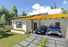 planta-de-casa-terrea-com-3-quartos-e-varanda-gourmet-cod-104-foto-2 Gazebo, Pergola, Construction, Architectural Digest, House Plans, Sweet Home, Floor Plans, Outdoor Structures, Flooring