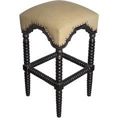 """Noir 30"""" Abacus Bar Stool with Cushion"""