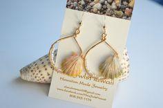 Hawaiian Sunrise Shell Earrings Hawaiian Shells by alanalorenzo, $60.00