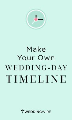 Don't miss a beat on your wedding day by using our custom timeline generator… Wedding Day Timeline, Wedding Advice, Diy Wedding, Dream Wedding, Wedding Ideas, Wedding Stuff, Before Wedding, On Your Wedding Day, Perfect Wedding