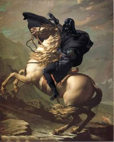 Darth on a horse!