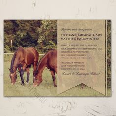 Country Horses Wedding Invitation (10 pk) - The Painting Pony