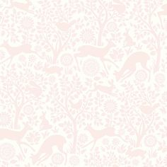HAS01231 Light Pink Forest Fauna - Anahi - Hide and Seek Wallpaper by Chesapeake