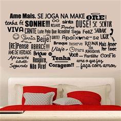 Adesivo de parede Ame mais 03