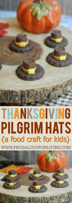 Kids' Thanksgiving Food Craft - Pilgrim Hats Fall Tradition