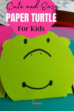 Stackable Paper turtle craft for kids that they will love and play with, stack the paper inside the turtle, fun craft for kids and toddlers, toddler craft, easy kids crafts, paper crafts, quick crafts for kids, kids activities, preschool activities, preschool crafts Easy Toddler Crafts, Quick Crafts, Easy Crafts For Kids, Kids Learning Activities, Preschool Activities, Turtle Crafts, Preschool Crafts, Paper Crafts, Scissors
