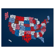 Home State Canvas Giclee Print