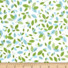 Robert Kaufman Forest Fellow Leaves Wild from @fabricdotcom  Designed by Sea Urchin Studio for Robert Kaufman, this fabric is perfect for quilting, apparel and home décor accents. Colors include white, baby blue and various shades of lime green.
