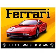 Ferrari Service Black Metal Retro Reproduction Garage Sign