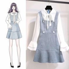 Perfect Clothing Colour Combinations For 2020 Ulzzang Fashion, Kpop Fashion, Kawaii Fashion, Cute Fashion, Girl Fashion, Fashion Drawing Dresses, Fashion Illustration Dresses, Fashion Dresses, Girly Outfits