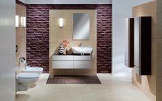 Kolo Brick Wall, Toilet, Mirror, Bathroom, Modern, Furniture, Nice, Design, Home Decor