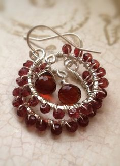 Faceted Garnet Exterior Sterling Silver Wire