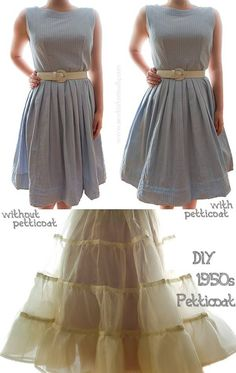 How To Make A 1950s Petticoat