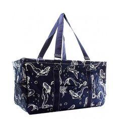 Canvas Blue Mermaid Design Carry All Bag
