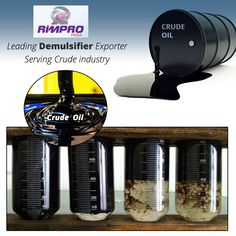There is an increasing demand of #demulsifier.  Demulsifier helps in separating emulsified substances. These substances are often referred as emulsion breaker. It is commonly used for production of crude oil. #Rimpro India is one of the leading demulsifier exporter.