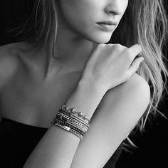 Petite Pavé Mini Loop Bracelet with Diamonds