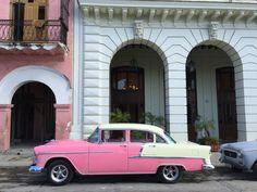Pink Car in Havana Cuba