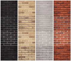 When you choose to carry out a classic masonry instead of gluing the bricks, then the joint very much determines the end result. Depending on the bric. Brick Columns, Brick Facade, Exterior Tiles, Exterior Colors, Red Brick Exteriors, Ranch House Remodel, Outside Paint, Brick Interior, House Trim