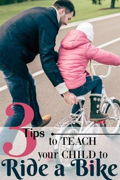 The weather has warmed up, and it's time to spend time outdoors. Here are tips on how to teach a child to ride a bike. It's not as hard as you think! via @homeschlprek