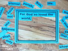 12 Seriously Fun Bible Memory Verse Games (Perfect for home or classroom use!)|Path Through the Narrow Gate