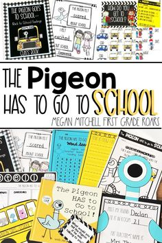 The Pigeon Has to go to School is the perfect back to school book. I will be reading this story and completing the activities the first week of school. We will talk about our feelings, make a class book, work on comprehension activities, make a pigeon craft, graph how we get to school, make a fun bus craft, complete a word sort and more. This activity pack is perfect for kindergarten, first grade, or second grade. #thepigeonhastogotoschool #backtoschoolactivities #firstgrade #kindergarten