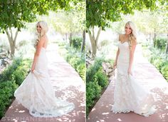 Our beautiful bride Kristen in her stunning Martina Liana gown!