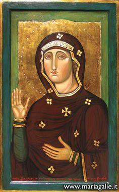 Madonna di Aracoeli 80x100 cm Basilica Santa Maria in Aracoeli, Roma   Riproduzione fedele all'originale usata in sostituzione dell'opera portata in restauro