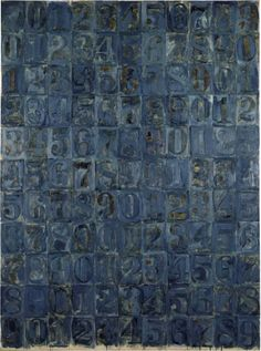 "loverofbeauty: "" Jasper Johns: Blue Numbers (1963) """