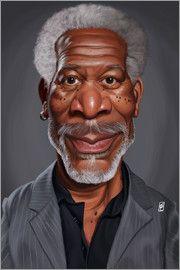 Rob Snow | caricatures - Morgan Freeman