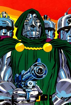 """ungoliantschilde: ""comicbookartwork: ""Doctor Doom "" by Jack Kirby. Marvel E Dc, Marvel Comic Universe, Marvel Comic Books, Comic Book Characters, Comic Character, Comic Books Art, Marvel Comics, Poster Marvel, Marvel Villains"