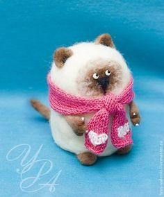Кот Валентин (Сиамский) - бежевый,сиамский кот,кот,кошка,котенок,Валяние