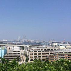 Summer sky at Yokohama (2/2) Photo by Noichi san #skysummer #yokohama #japan #pupuru #yukata #wifirental