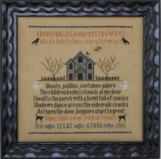 Halloween Story Sampler ~ counted cross stitch, pattern $10 | from Blue Ribbon Designs