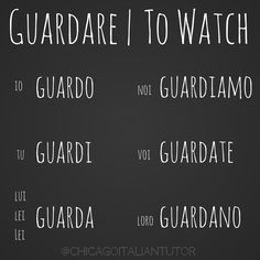 guardare | to watch