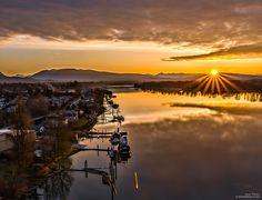 Pitt Meadows Riverfront in southwestern British Columbia, Canada