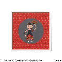 Spanish Flamengo Dancing Birthday Party Napkin