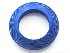 Cobalt Phase Bangle by Lynne MacLachlan #jewellery #jewelry #3D printed